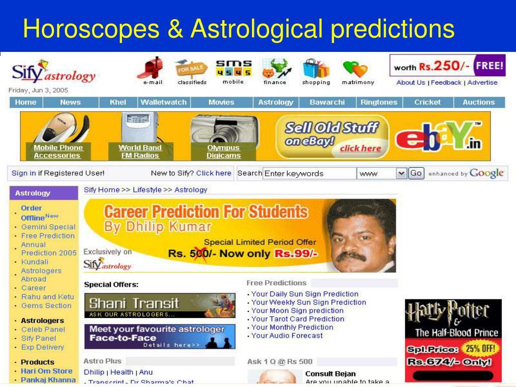 Horoscopes & Astrological predictions