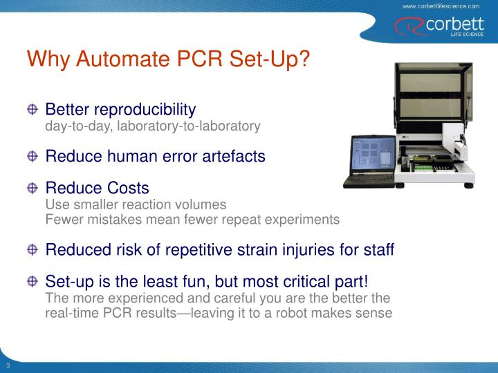 Why automate pcr set up