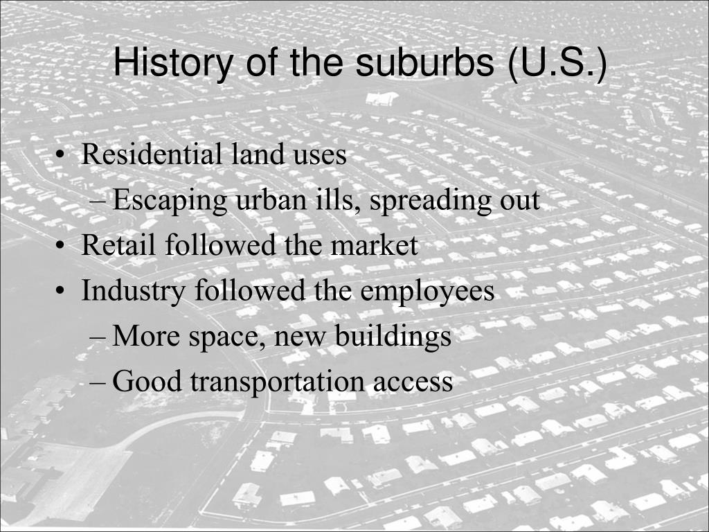 History of the suburbs (U.S.)