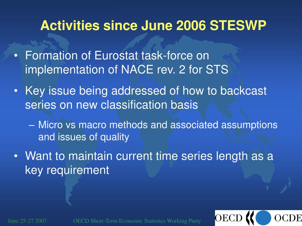 Activities since June 2006 STESWP