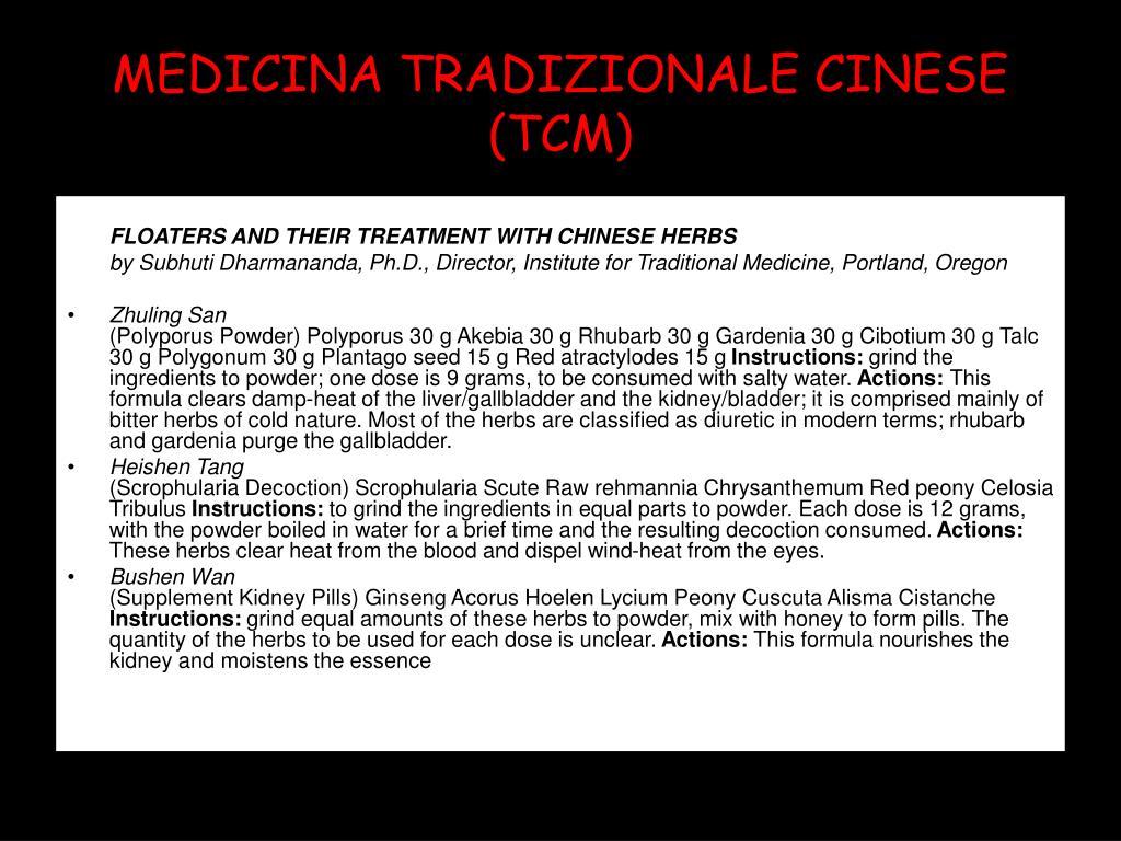 MEDICINA TRADIZIONALE CINESE (TCM)