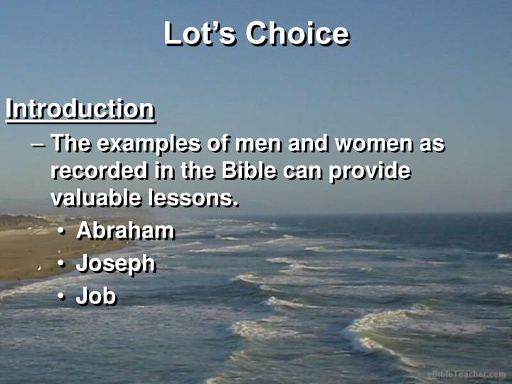 Lot s choice