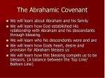 the abrahamic covenant