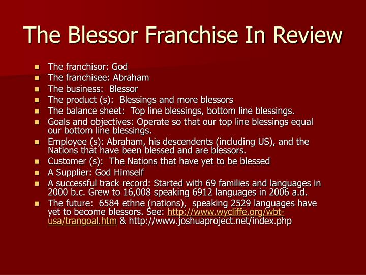 The Blessor Franchise In Review