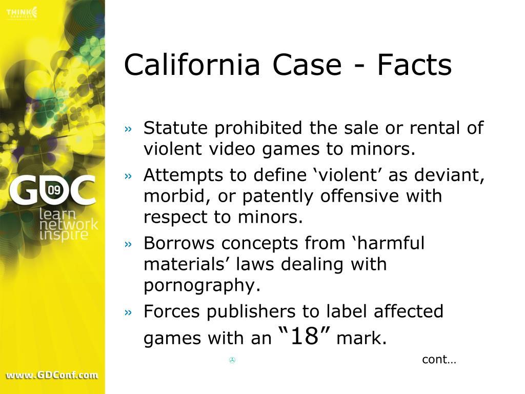 California Case - Facts