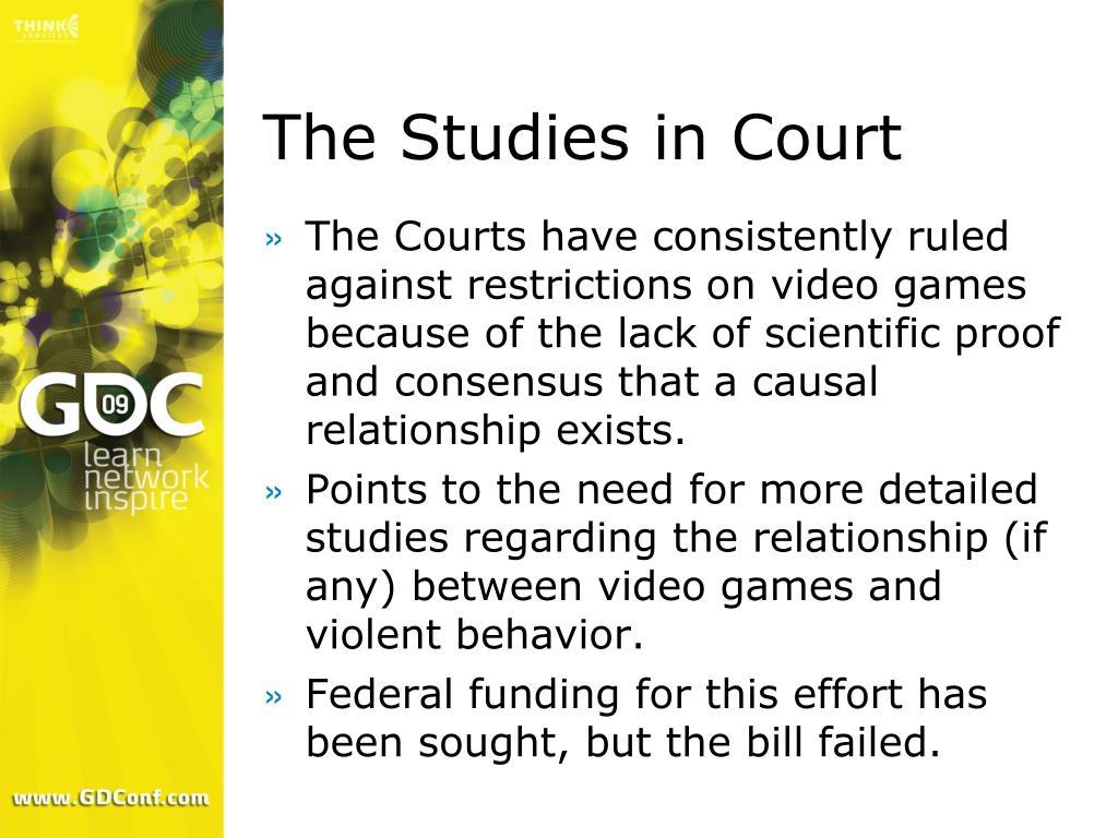 The Studies in Court