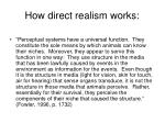 how direct realism works