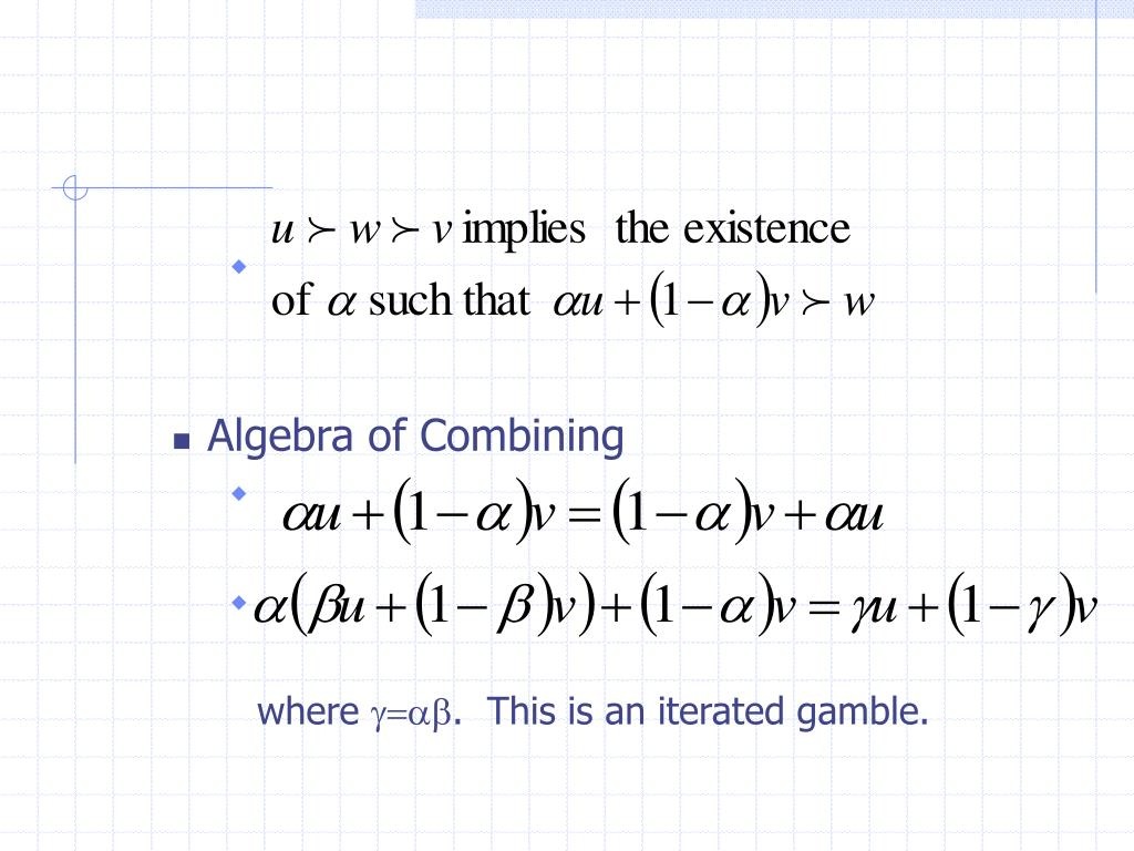 Algebra of Combining