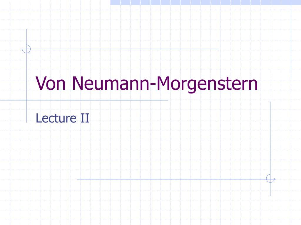 Von Neumann-Morgenstern