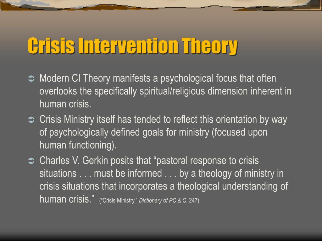 nursing thesis crisis intervention The abc model of crisis intervention is a method for conducting very brief mental health interviews with clients whose functioning level has decreased.