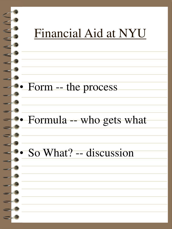 Financial Aid at NYU