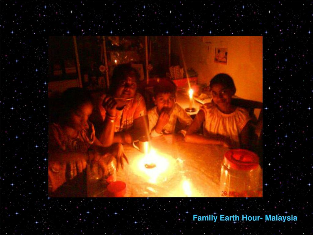 Family Earth Hour- Malaysia