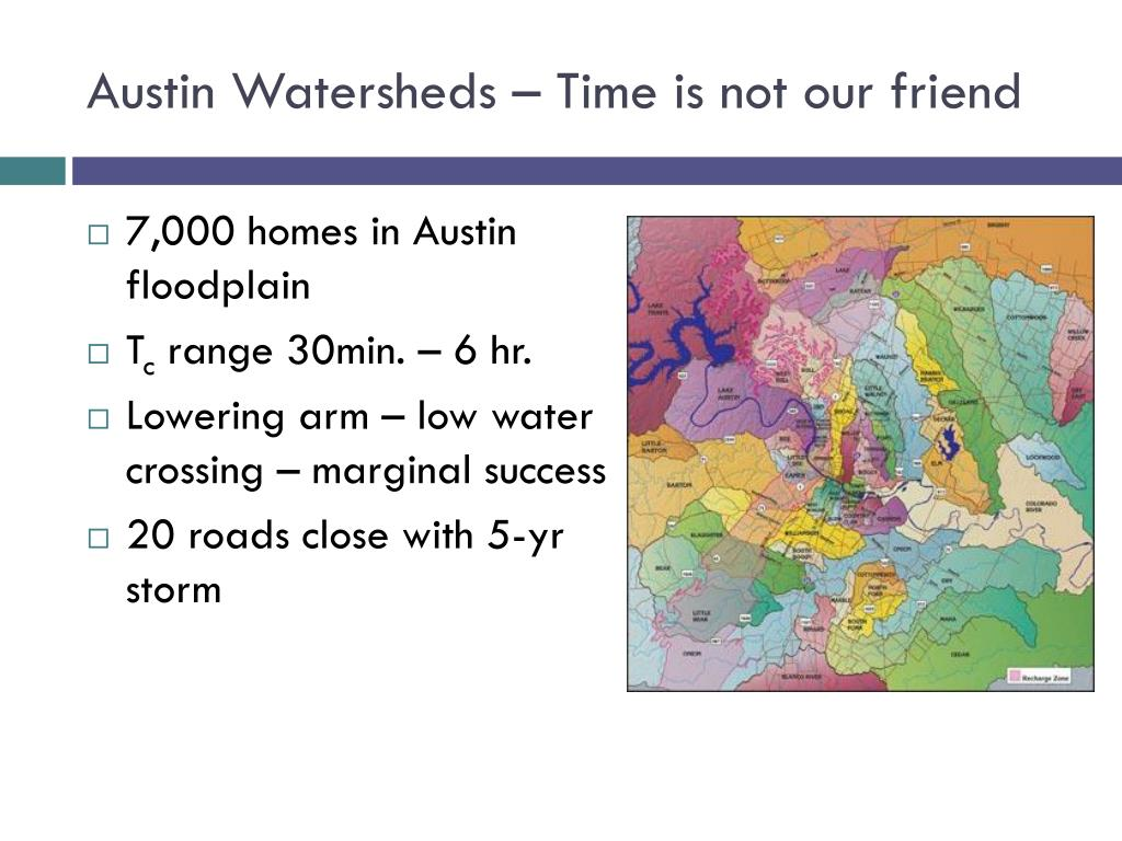 Austin Watersheds – Time is not our friend