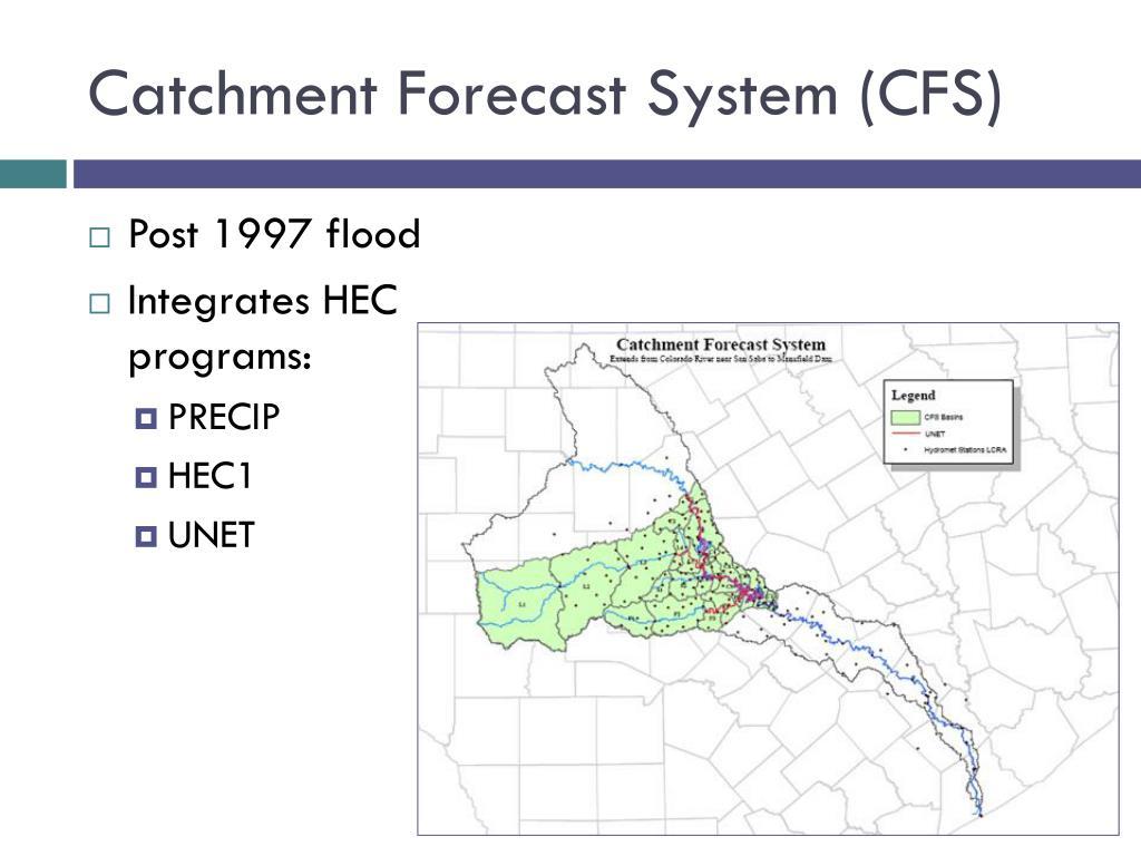 Catchment Forecast System (CFS)
