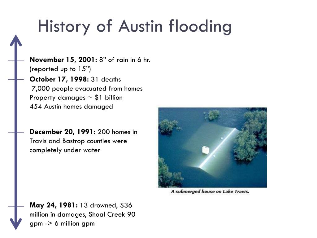History of Austin flooding