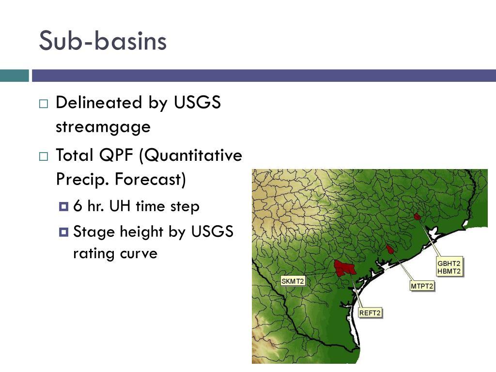 Sub-basins