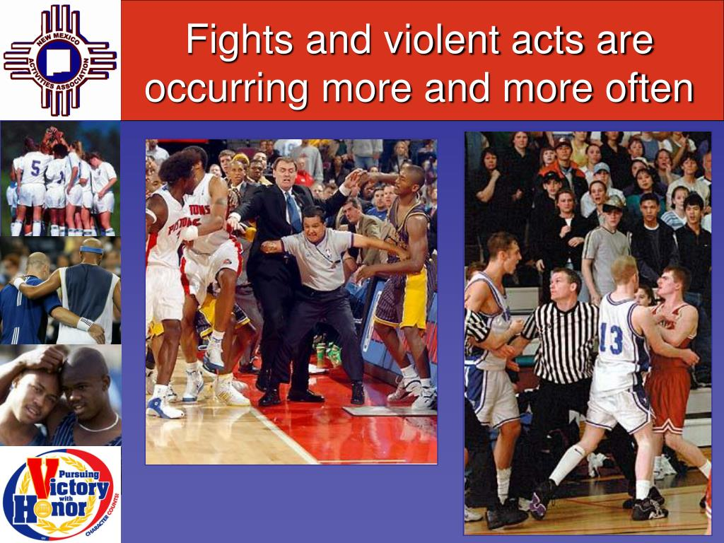 Fights and violent acts are occurring more and more often