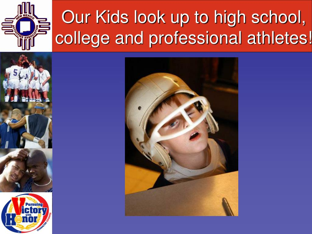 Our Kids look up to high school, college and professional athletes!