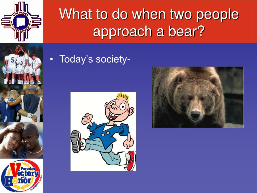 What to do when two people approach a bear?