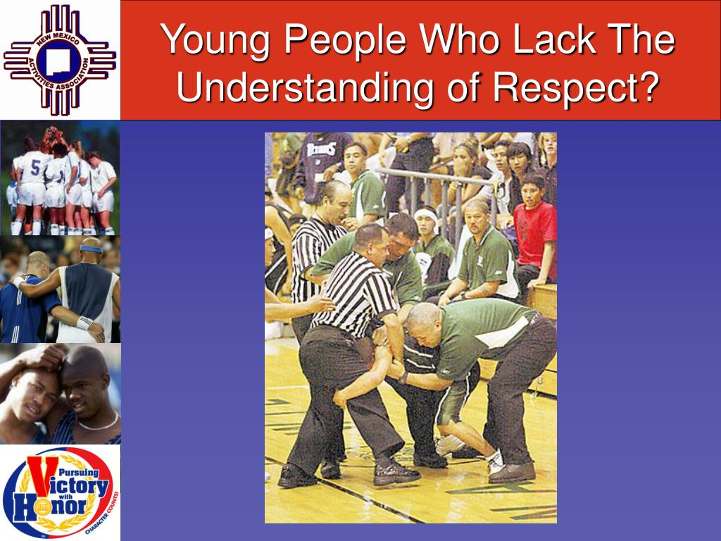 Young People Who Lack The Understanding of Respect?