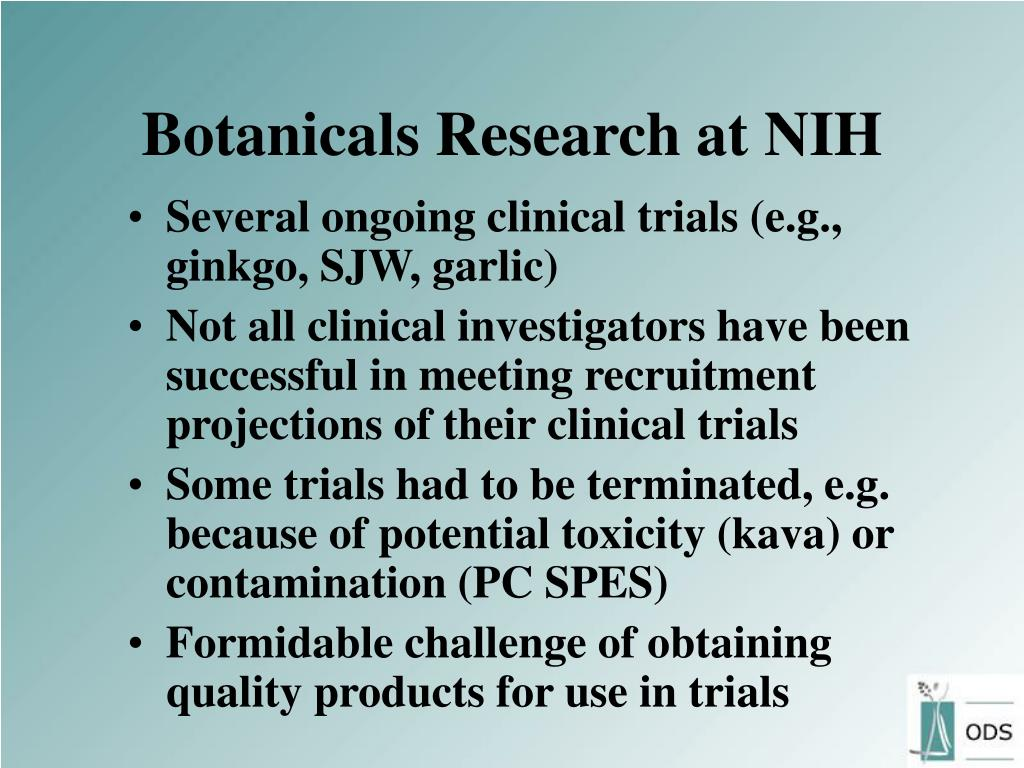 Botanicals Research at NIH