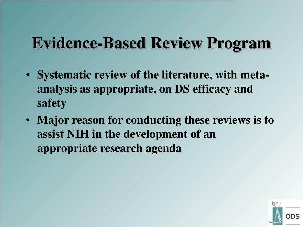 Evidence-Based Review Program