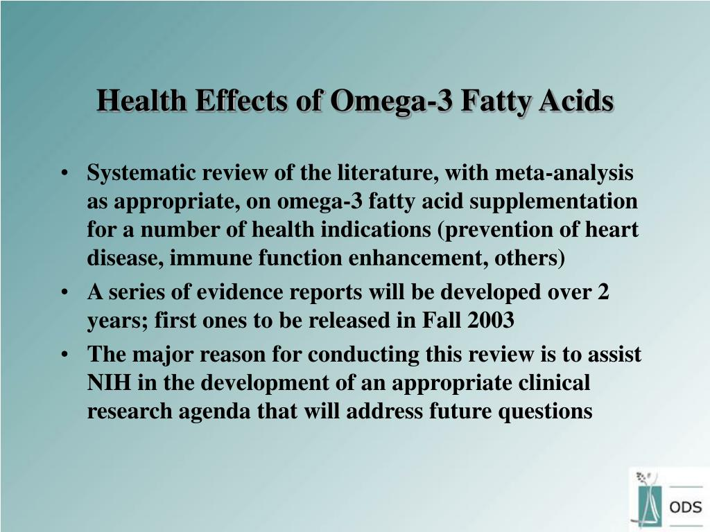 Health Effects of Omega-3 Fatty Acids