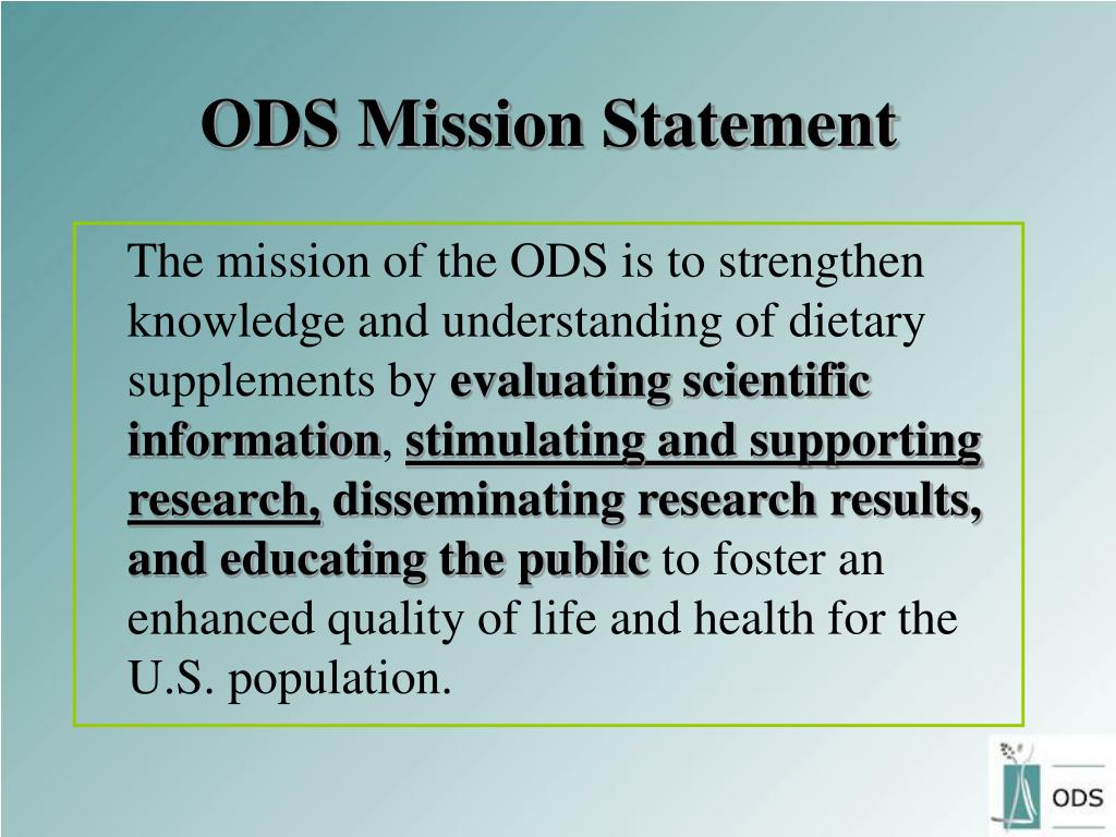 ODS Mission Statement