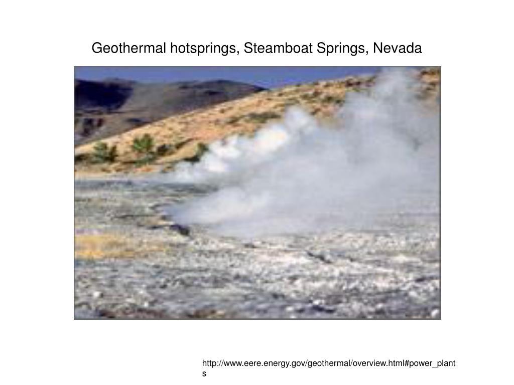 Geothermal hotsprings, Steamboat Springs, Nevada