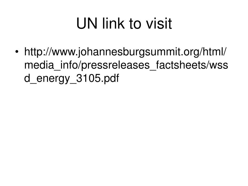 UN link to visit
