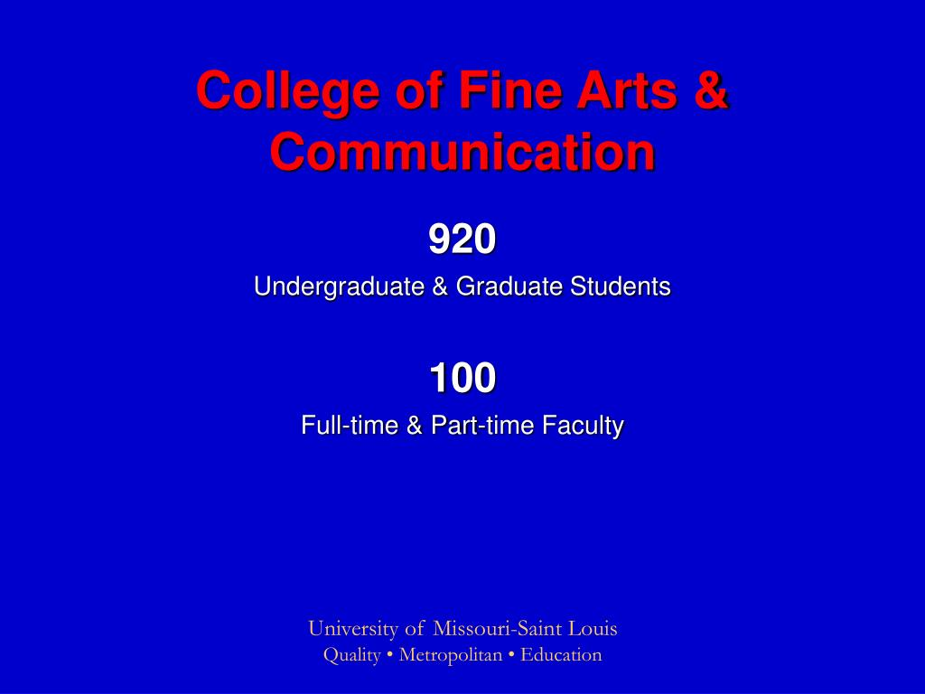 College of Fine Arts & Communication