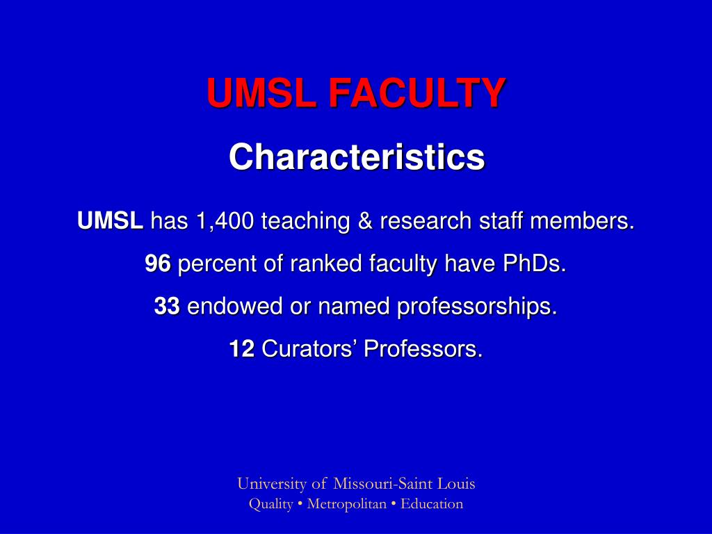 UMSL FACULTY