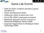 game lab events