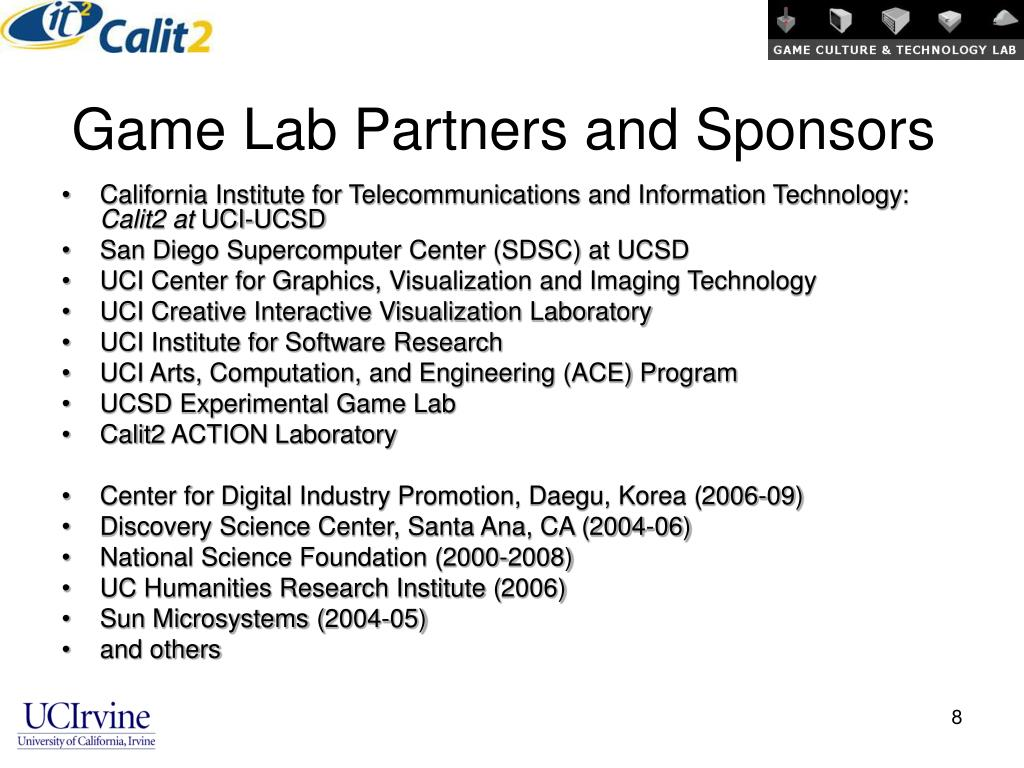Game Lab Partners and Sponsors