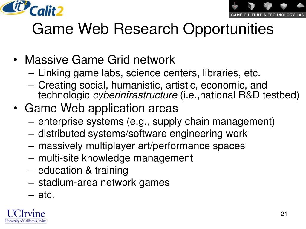 Game Web Research Opportunities