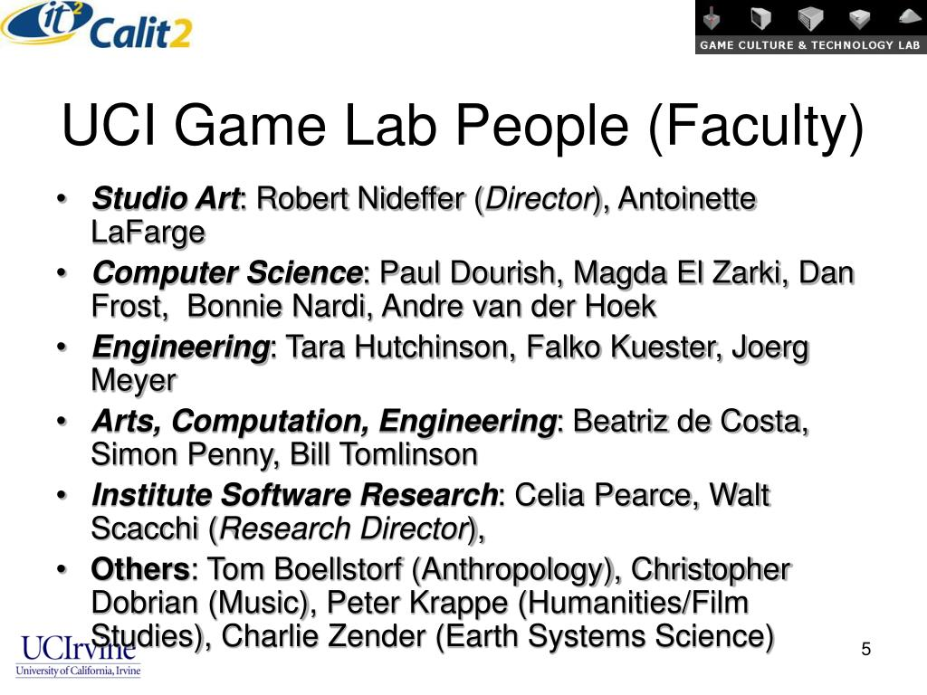 UCI Game Lab People (Faculty)