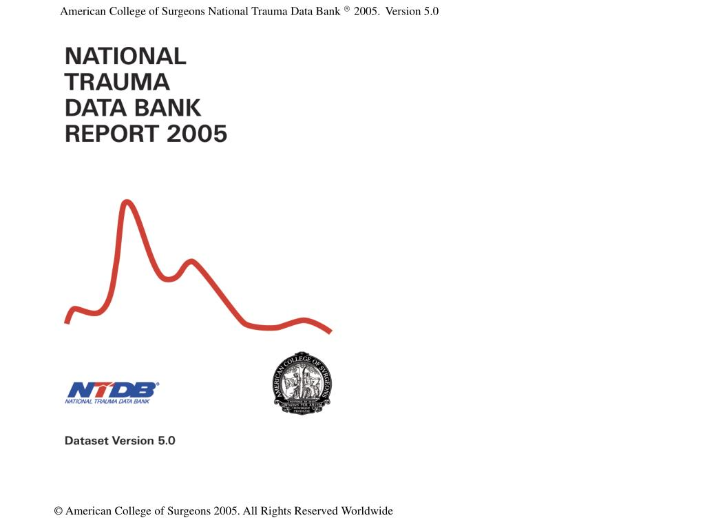 American College of Surgeons National Trauma Data Bank