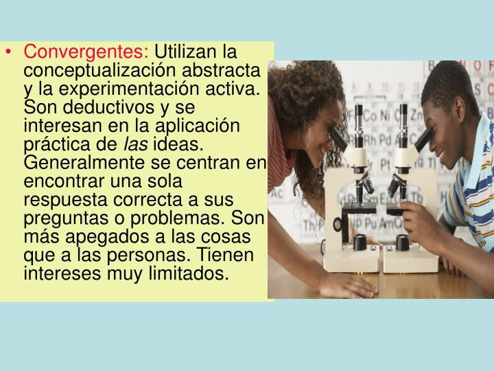 Convergentes: