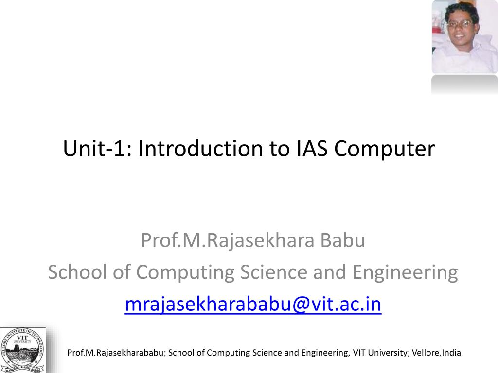 Unit-1: Introduction to IAS Computer