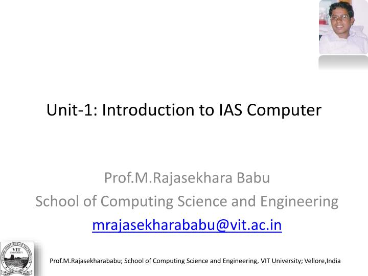 Unit 1 introduction to ias computer