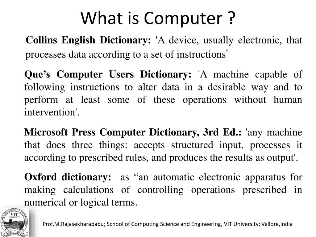 What is Computer ?