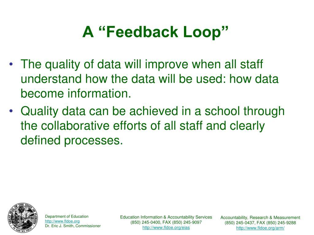 """A """"Feedback Loop"""""""