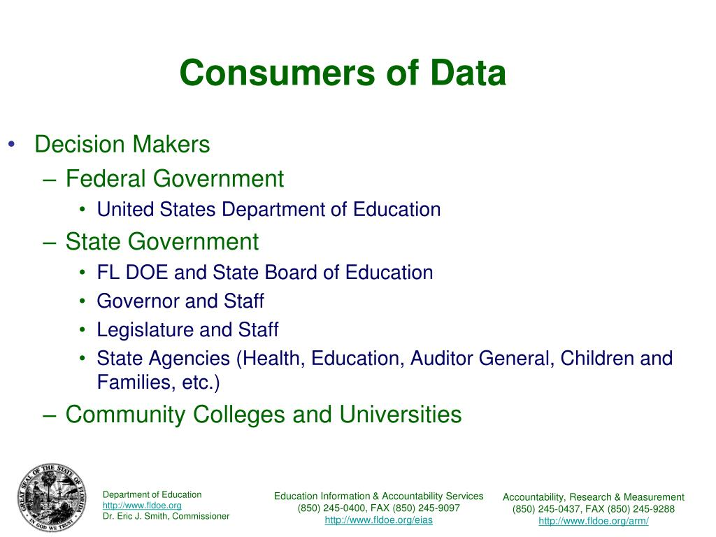 Consumers of Data