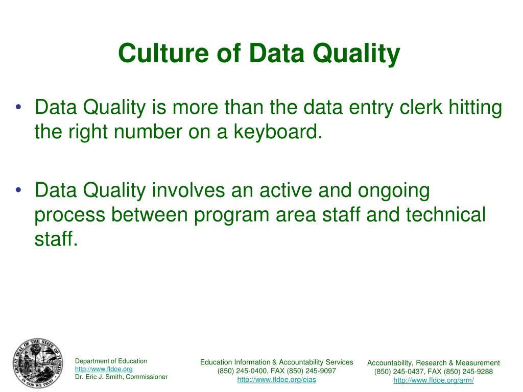 Culture of Data Quality