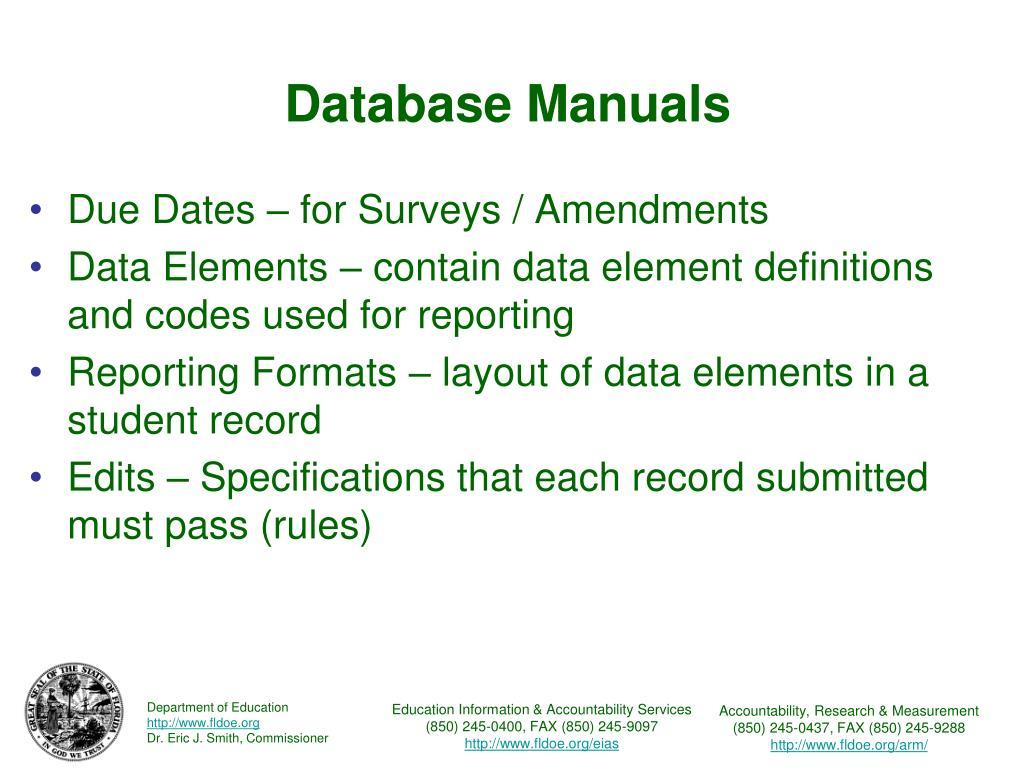 Database Manuals