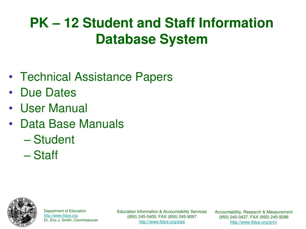 PK – 12 Student and Staff Information Database System