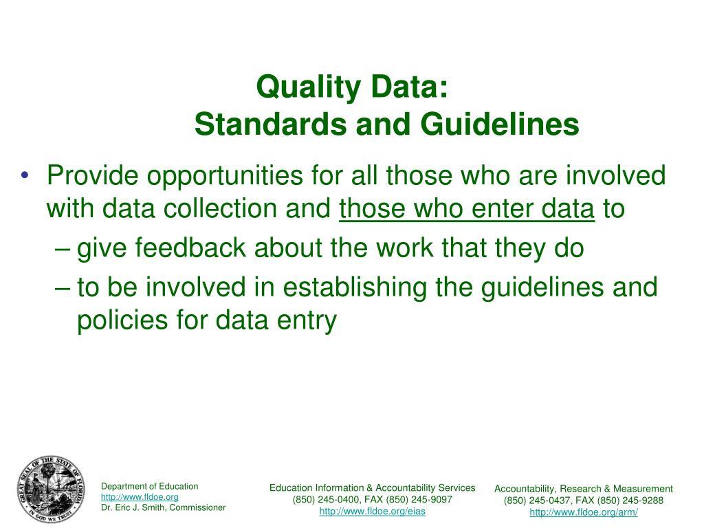Quality Data: