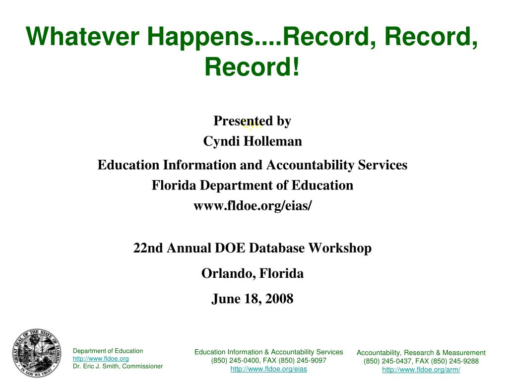 Whatever Happens....Record, Record, Record!