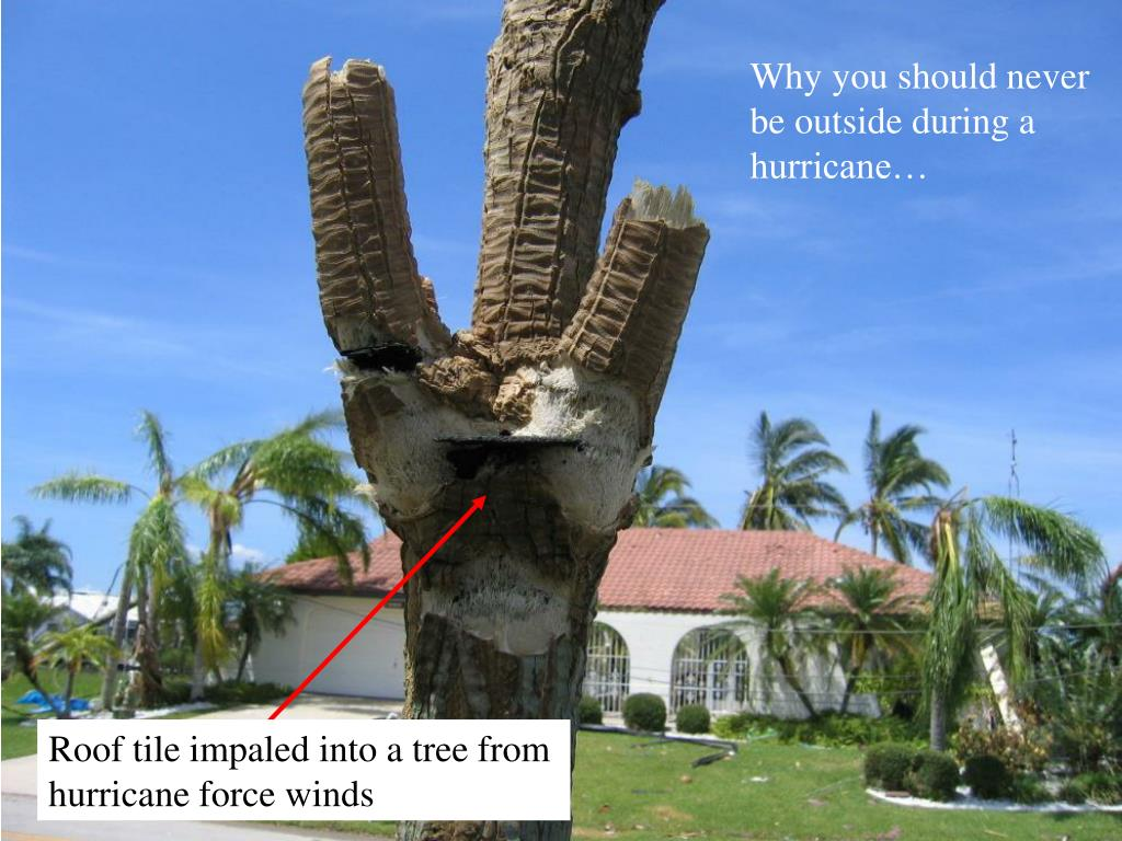 Why you should never be outside during a hurricane…