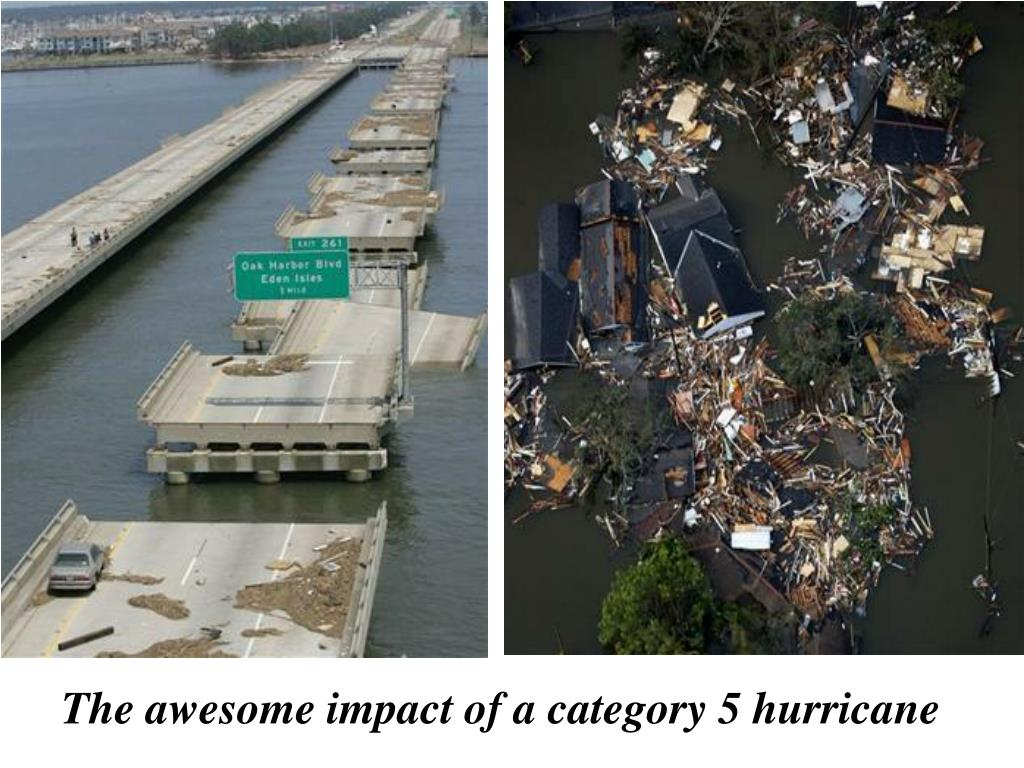 The awesome impact of a category 5 hurricane
